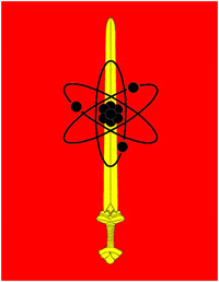 Proposed version of the sword-and-atom symbol of Gram, the 'Sword of Nuclear Wrath'